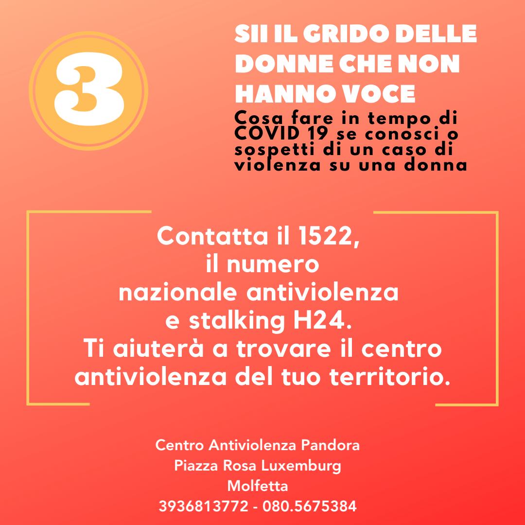 Violenza sulle donne durante emergenza COVID19 - Slide 4