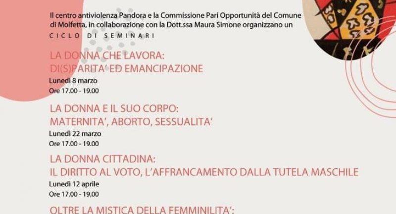 """Seminari formativi """" Quando tutte le donne del mondo"""". Il femminismo: storia, teorie e pratiche"""